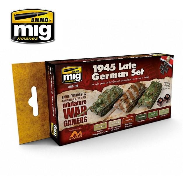 Ammo of Mig Jimenez Wargames Colours: Late 1945 German Set