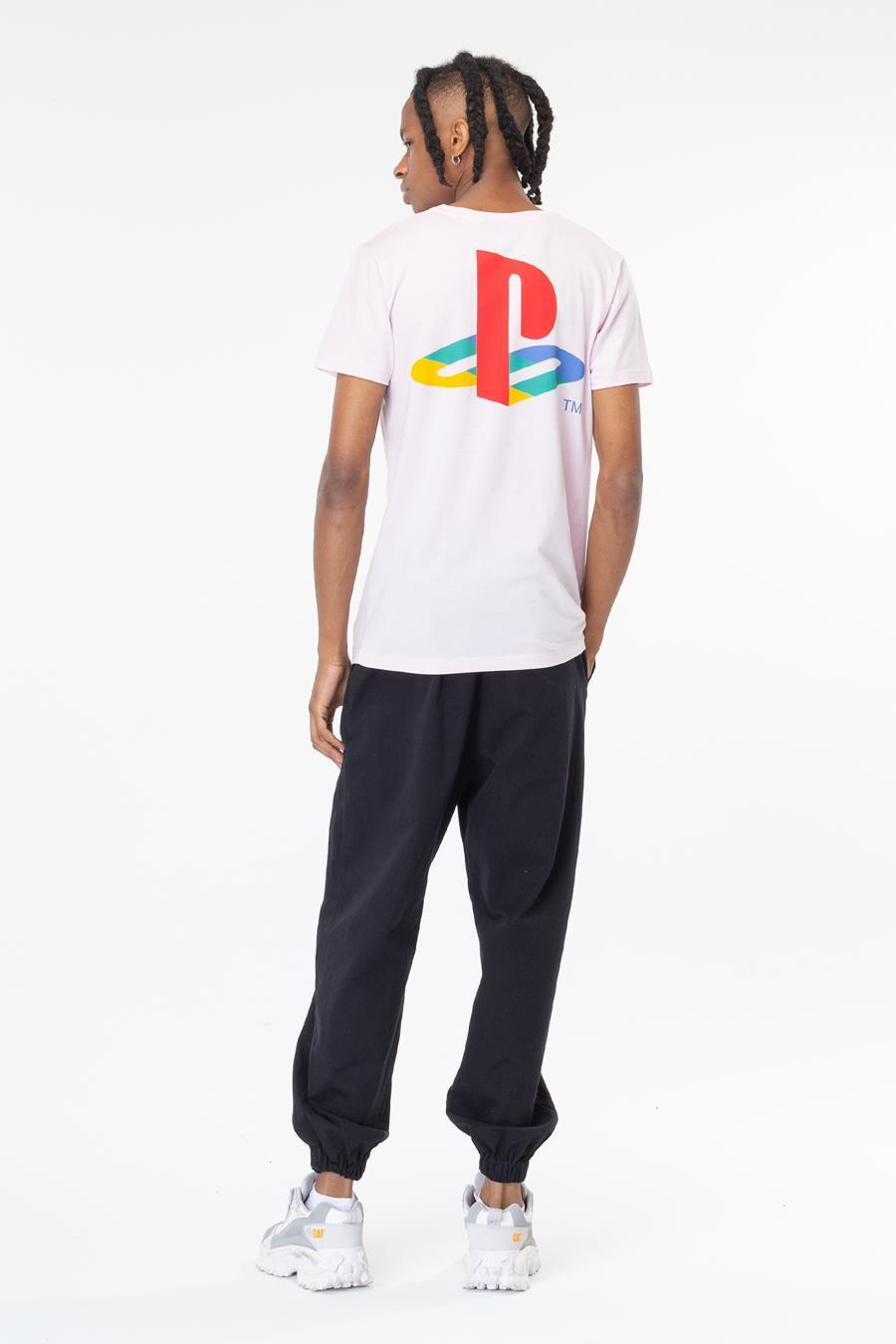 Just Hype: PlayStation Pink Crest Mens T-Shirt - Medium image