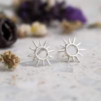 Midsummer Star: Open Sunshine Studs (silver) image