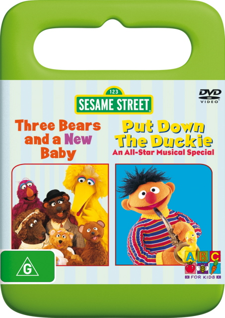 Sesame Street - Three Bears And A New Baby / Put Down The Duckie on DVD image