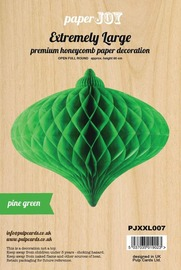 Paper Honeycomb Hanging Bauble - Pine Green (60cm)
