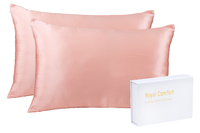 Royal Comfort Mulberry Silk Pillow Case Twin Pack (Blush) image