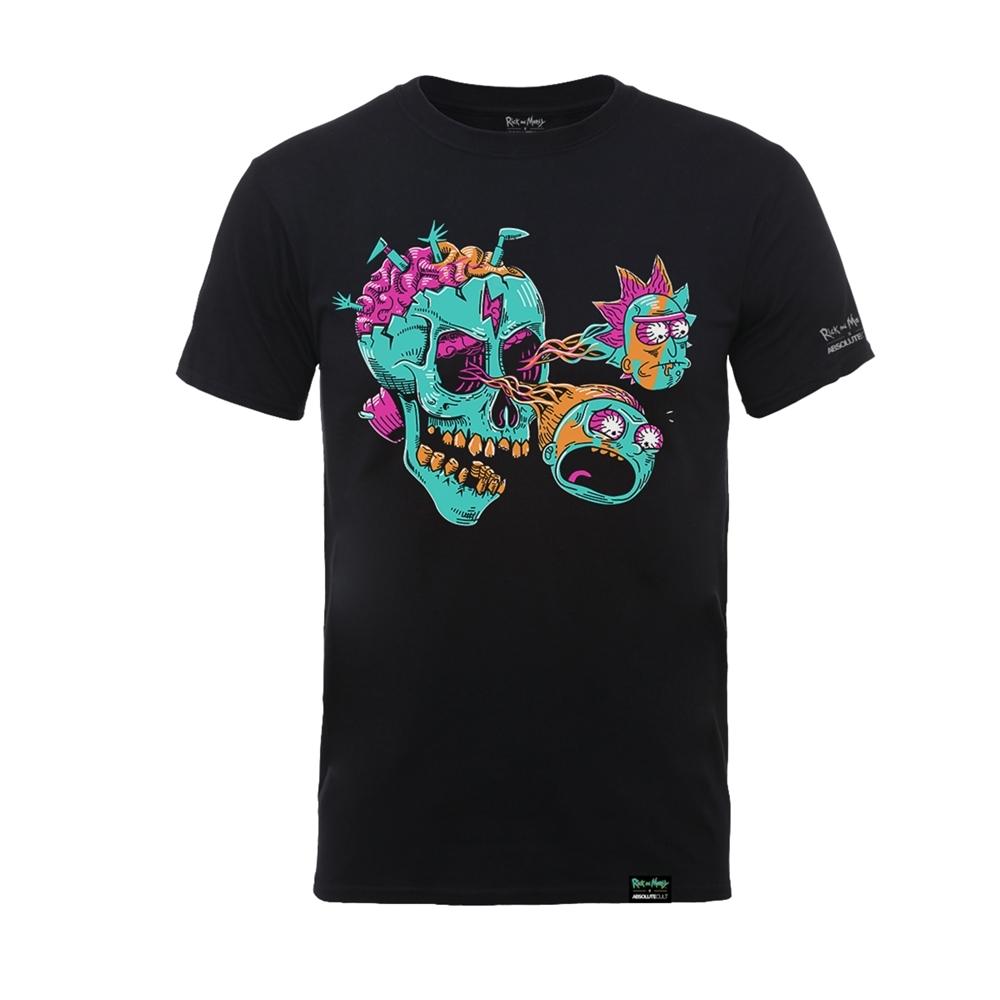 Rick and Morty: Eyeball Skull T-Shirt - Black (X-Large) image
