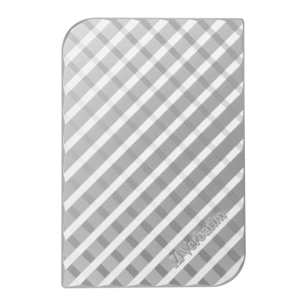 "Verbatim 2.5"" Store'n'Go Portable Hard Drive - 1TB (Silver Grid Design) image"