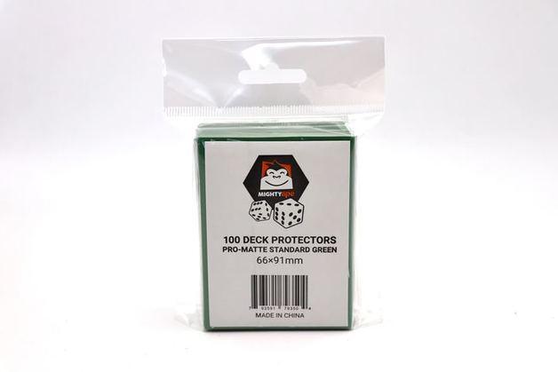 Mighty Ape Deck Protectors Pro-Matte Standard Green (100)