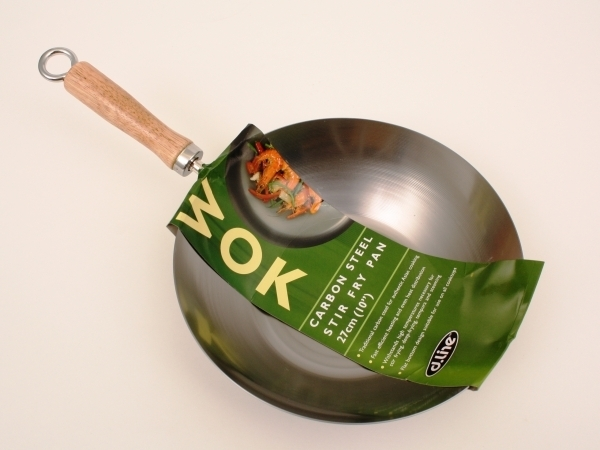 Carbon Steel Stir Fry Pan 27cm
