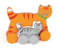 Jack Rabbit Creations: Mummy & Baby Push Toy - Cat
