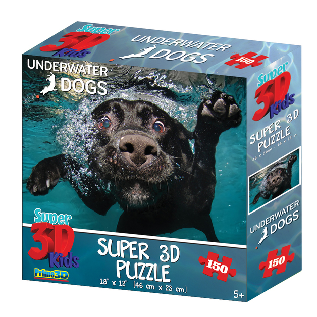Super 3D: 150-Piece Jigsaw Puzzle - Underwater Dogs Duchess