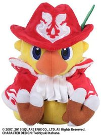 Chocobo's Mystery Dungeon: Chocobo (Red Mage) - Plush Toy