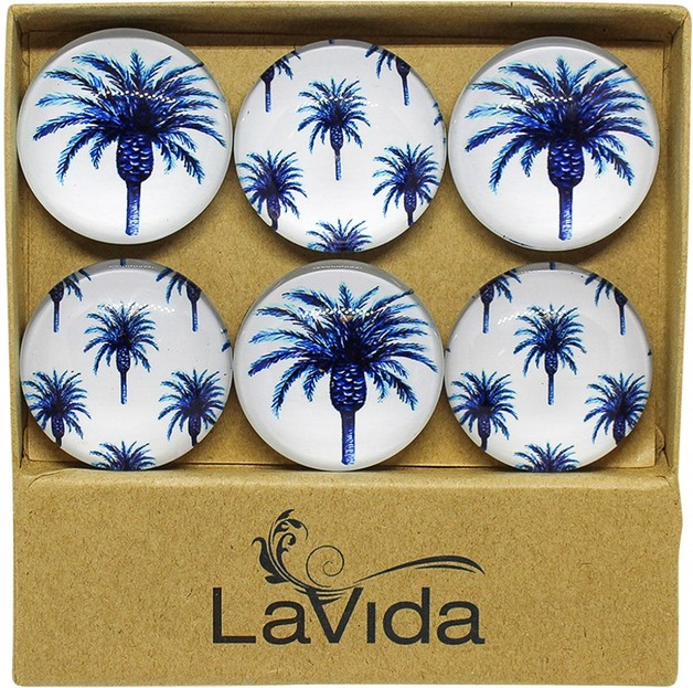 LaVida: Glass Magnets - Date Palm (Set of 6)