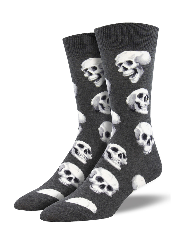 Socksmith: Sacred Skulls - Charcoal Heather