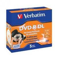 Verbatim DVD-R DL 2.6GB 5Pk 8cm Hardcoat 4x image