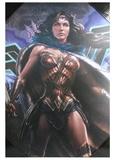 Batman v Superman: Wonder Woman - 3D Wood Wall Art