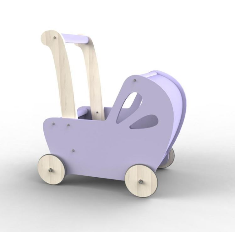 Moover Baby Doll's Pram - Purple image