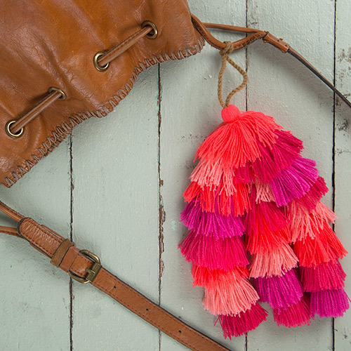 Natural Life: Tassel Tie On - Pinks Stacked image