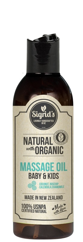 Sigrid's Natural Baby & Kids Massage Oil - Calendula, Chamomile, Rosehip (125ml)