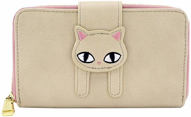 Loungefly: Cat Fishbone Print Pink Bifold Wallet