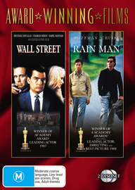 Wall Street / Rain Man (Award Winning Films) (2 Disc Set) on DVD image