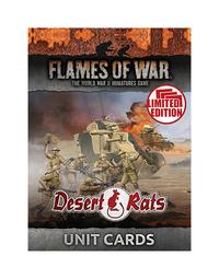 Flames of War: Desert Rats Unit Cards (Ltd Run)