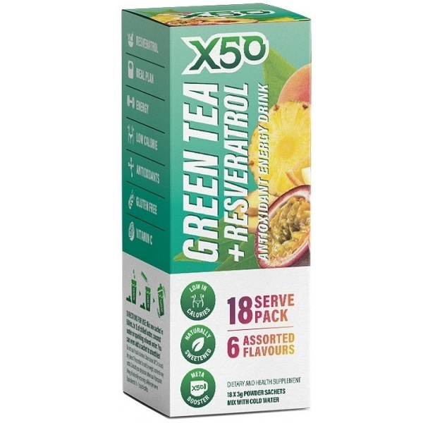 Green Tea X50 - 18 sachets (Assorted Flavours)