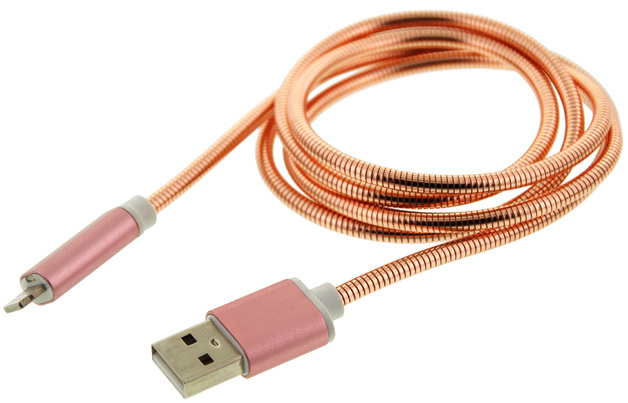 TouchLight Charge: 1m USB Charging Cable - 8PIN (Pink)