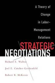 Strategic Negotiations by Richard E. Walton image