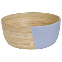 Large Bowl - 1/2 Lilac Grey