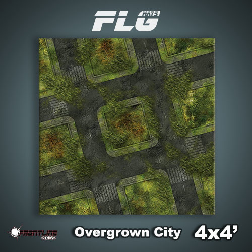 FLG Overgrown City Neoprene Gaming Mat (4x4)