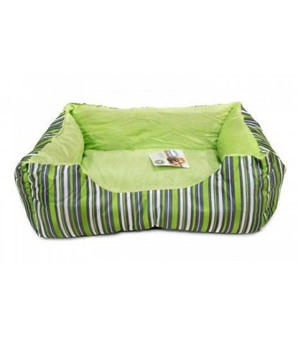 Pawise: Dog Bed Cuddler - Green Strip