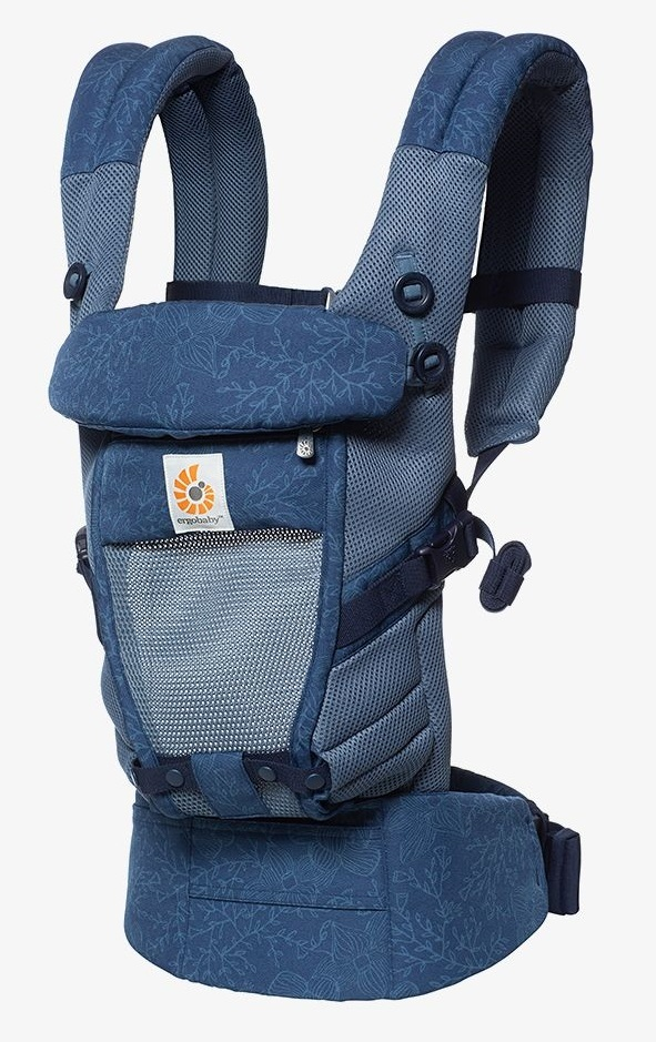 Ergobaby: Adapt - Cool Air Mesh Baby Carrier (Blue Blooms) image