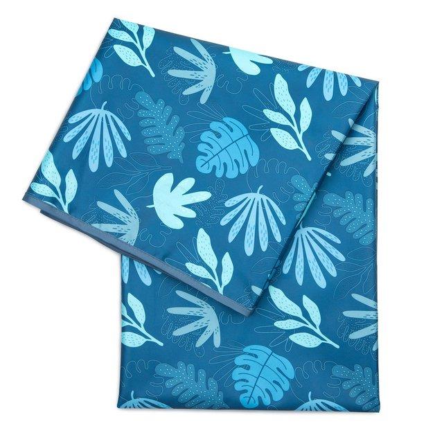 Bumkins: Waterproof Splat Mat - Blue Tropic