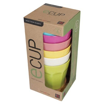 ECup - Set of 6 Bamboo Cups image