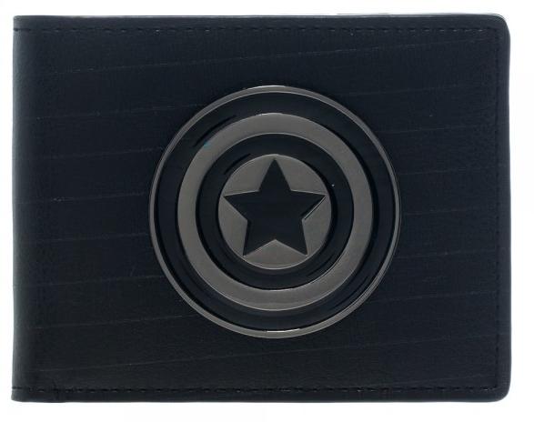 NWT Marvel Captain America Wallet Metal Shield Logo Bifold