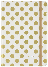 Peter Pauper: Gold Dots 16 Month 2019 Compact Diary