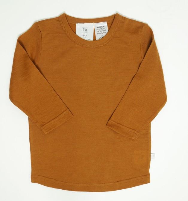Babu: Merino Crew Neck Long Sleeve T-Shirt - Fawn (2 Years)