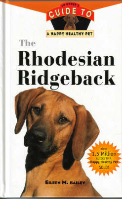The Rhodesian Ridgeback by Eileen M. Bailey image