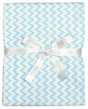 Silly Billyz Jersey Stroller Blanket (Blue Chevron)