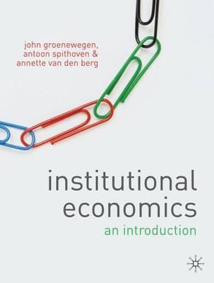 Institutional Economics by John Groenewegen image