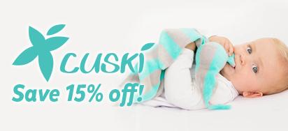 15% off Cuski!
