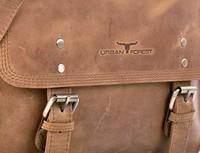 Urban Forest: Apache Small Leather Satchel Bag - Cognac image