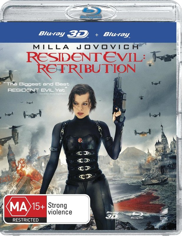 Resident Evil: Retribution on Blu-ray, 3D Blu-ray