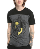 Harry Potter: Hufflepuff Mens Yoke T-Shirt (Large)