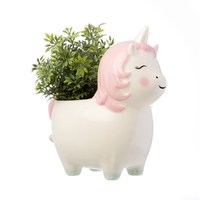 Rainbow Unicorn Plant Pot