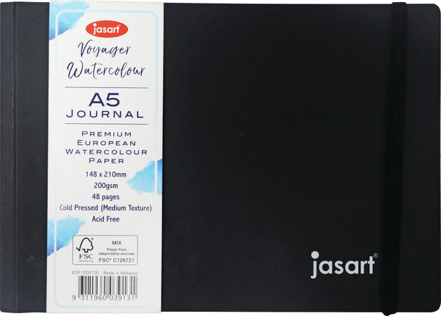 Jasart: Voyager Watercolour Journal - A5 Landscape (200gsm)