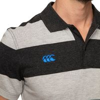 Canterbury: Mens Classics - Hoop Stripe Polo - Vanta Black Marl (Small)