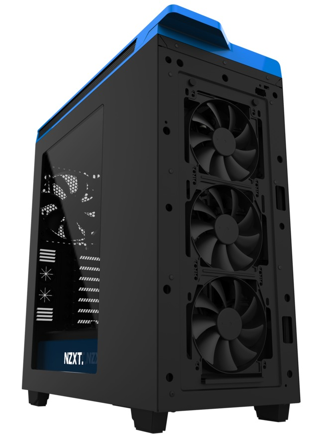 NZXT H440 Mid Tower Case 2015 Edition - Black/Blue image