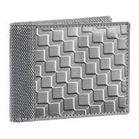 Stewart/Stand Stainless Steel Bill Fold Wallet - (3D Box) Silver