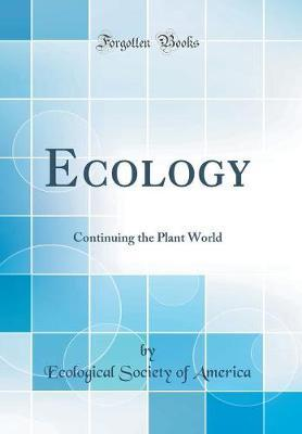Ecology by Ecological Society of America