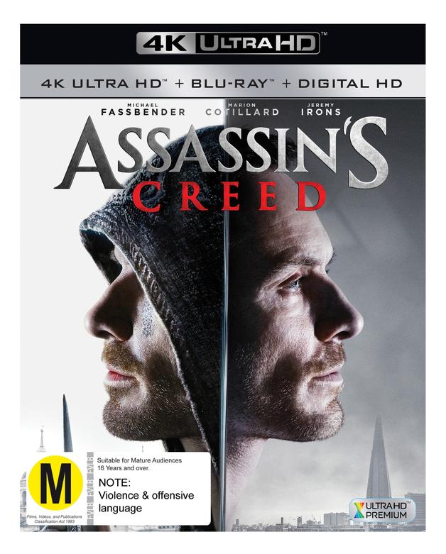 Assassin's Creed on Blu-ray, UHD Blu-ray