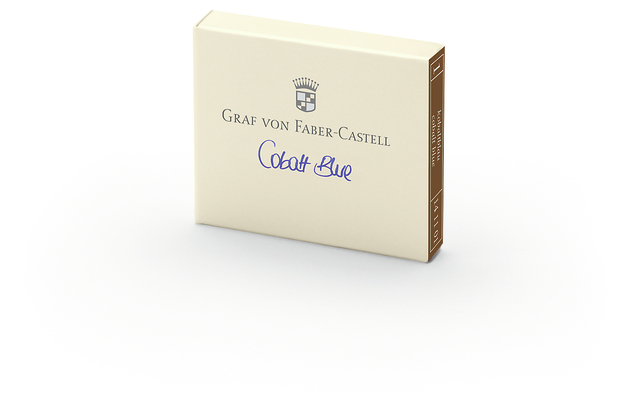Graf von Faber-Castell: Ink Cartridge - Cobalt Blue (6 Pack)